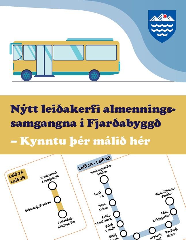 Fjarðabyggð - samgöngur sept 2021